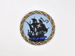 Piraten Patch gestickt