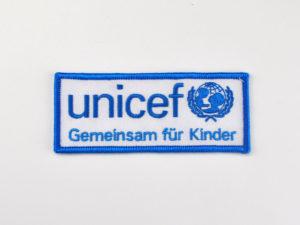 Aufnaeher Unicef gestickt